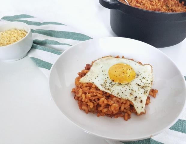 macaroni met chorizo
